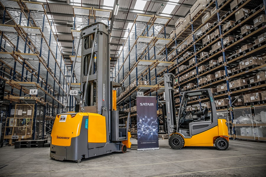 Satair launches new UK facility with high bay racking solution from Jungheinrich