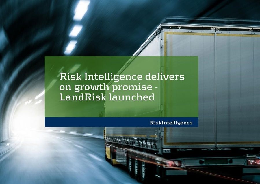 Risk Intelligence A/S delivers on growth promise – LandRisk product launched