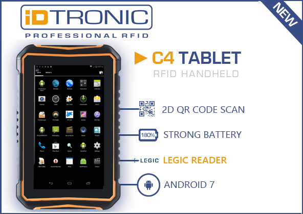 iDTRONICs Handheld Computer C4 Tablet LEGIC is now available