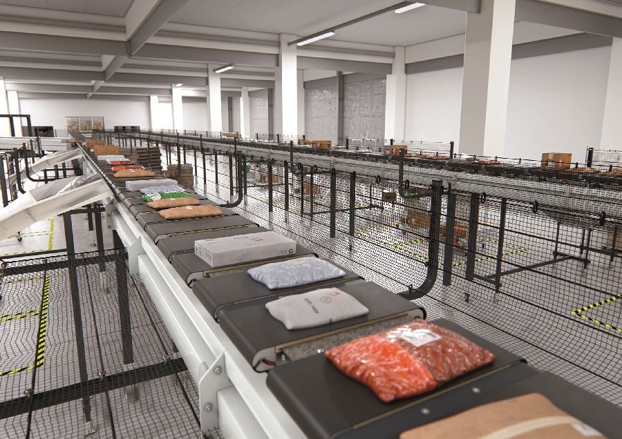 Ready for the future:  BEUMER Group presents new compact cross-belt sorter