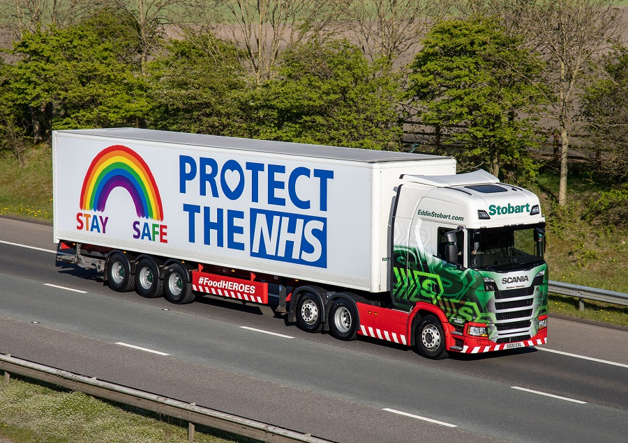 Eddie Stobart is proud to support the NHS with a newly branded Rainbow truck to raise money for NHS Charities Together