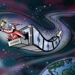 Santa gets packing